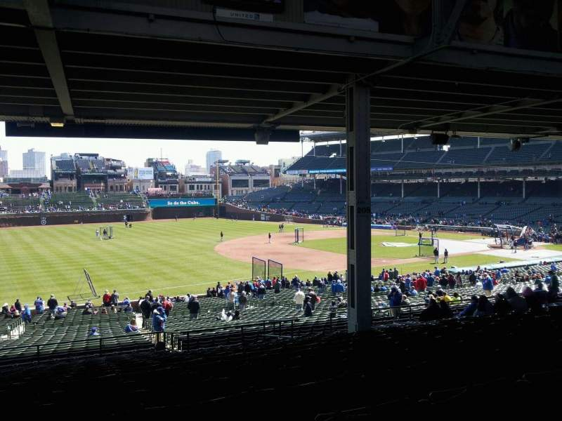 Seating view for Wrigley Field Section 208