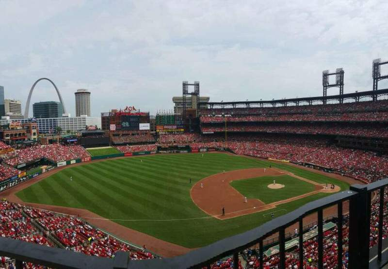 Seating view for Busch Stadium Section 359 Row 1 Seat 5