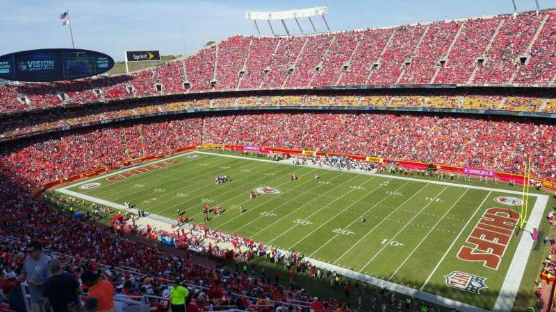 Seating view for Arrowhead Stadium Section 319 Row 22 Seat 14