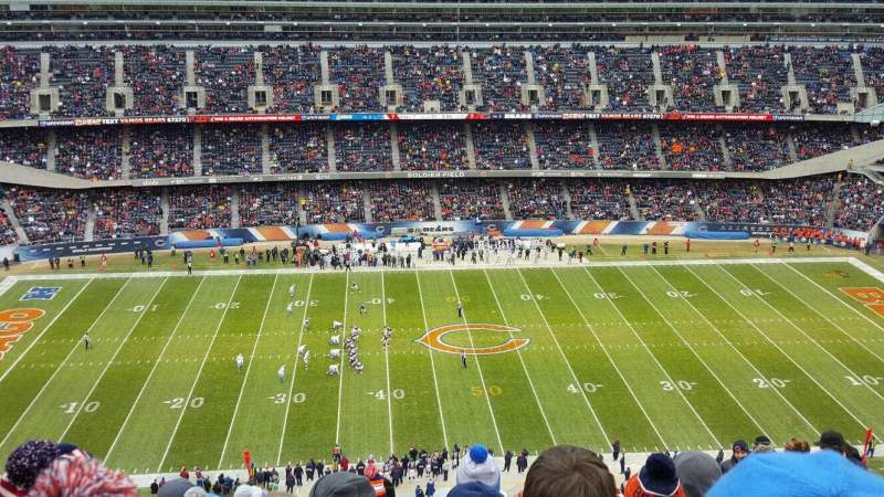 Seating view for Soldier Field Section 438 Row 26 Seat 16