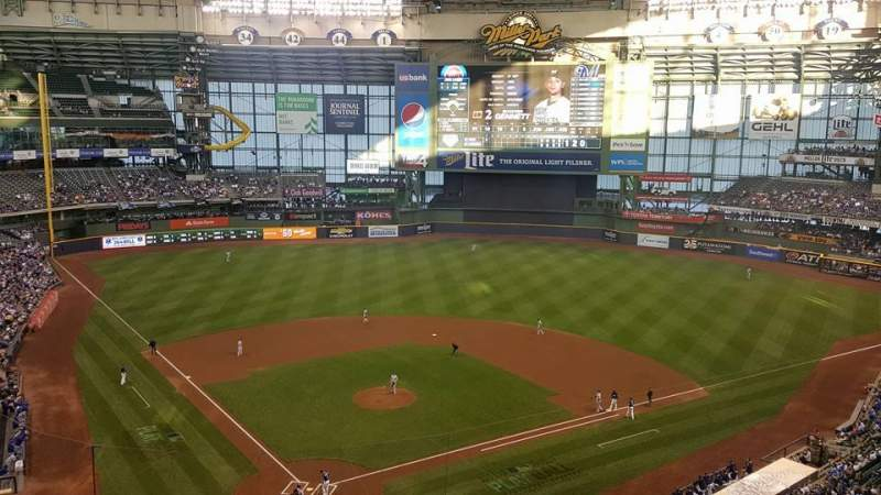 Seating view for Miller Park Section 420 Row 2 Seat 11
