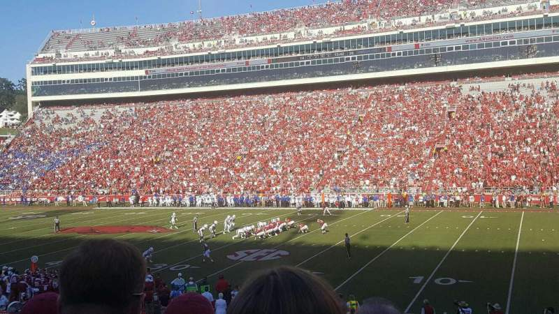 Seating view for Razorback Stadium Section 102 Row 19 Seat 19