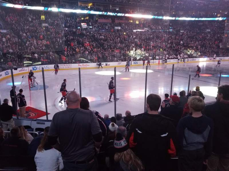 Seating view for Nationwide arena Section 117 Row K Seat 10