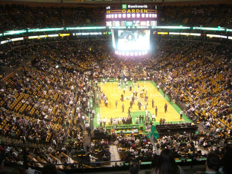 Seating view for TD Garden Section BAL 324 Row 6 Seat 14