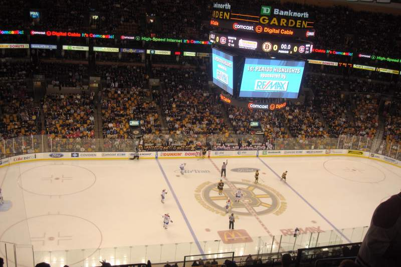Seating view for TD Garden Section BAL 318 Row 11 Seat 8