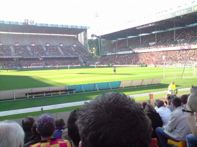 Seating view for Stade Bollaert-Delelis Section Delacourt niveau 0 Row 11 Seat 21