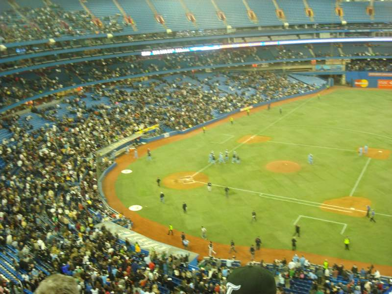 Seating view for Rogers Centre Section 517L Row 3 Seat 108