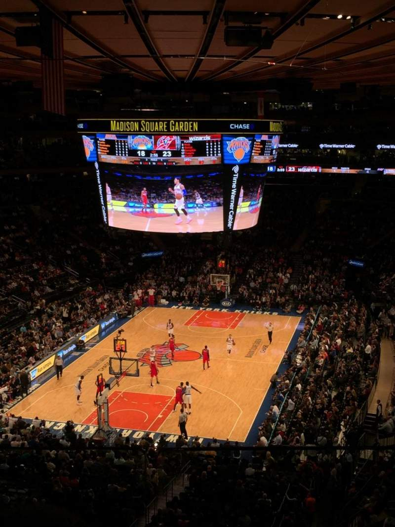 Madison square garden section 418 row 2 seat 8 new york knicks vs washington wizards for Ticketmaster madison square garden