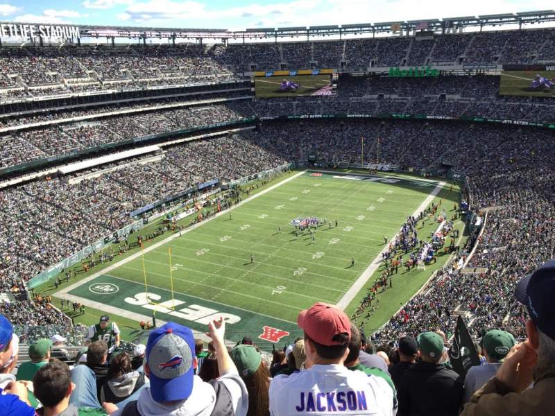 Seating view for Metlife Stadium Section 417 Row 15 Seat 17