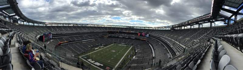 Seating view for Metlife Stadium Section 417 Row 18 Seat 17