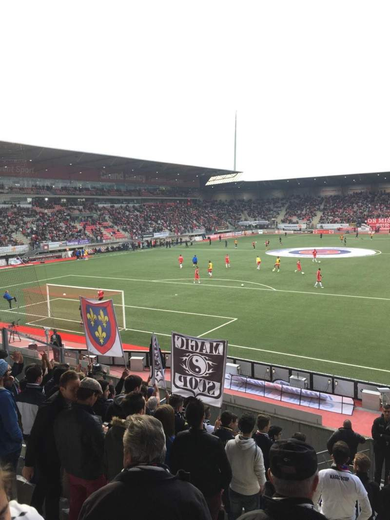 Seating view for Stade Marcel-Picot Section Tribune Schuth Row Parcage Seat Visiteur