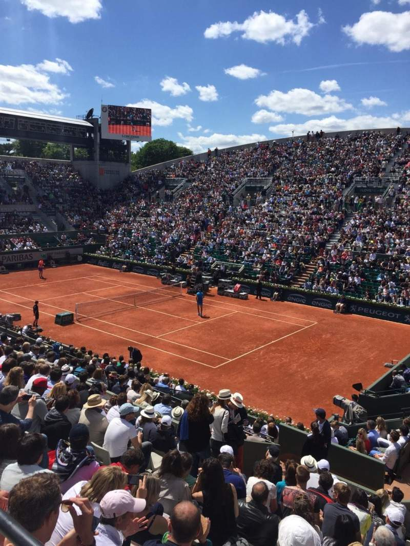 Seating view for Court Suzanne-Lenglen Section Tribune Est Row 11 Seat 108