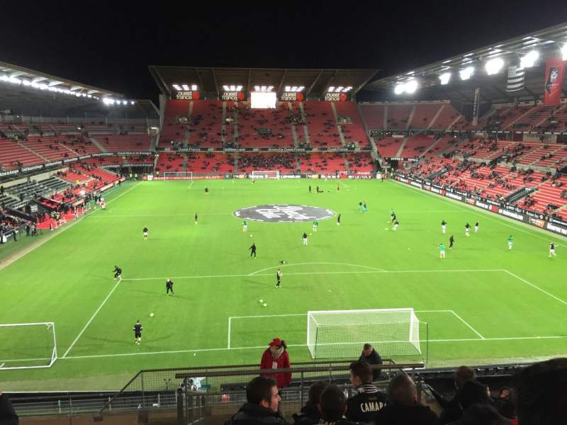 Seating view for Roazhon Park Section Ville De Rennes Row Y Seat 44-6