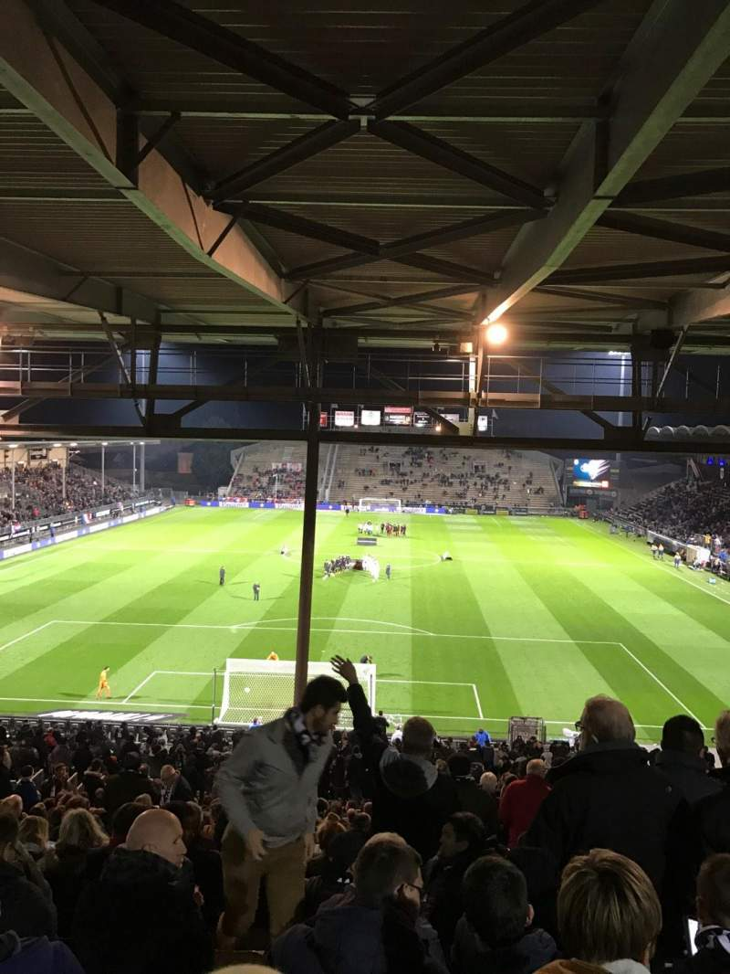 Seating view for Stade Raymond Kopa Section Coubertin C Row AL Seat 132