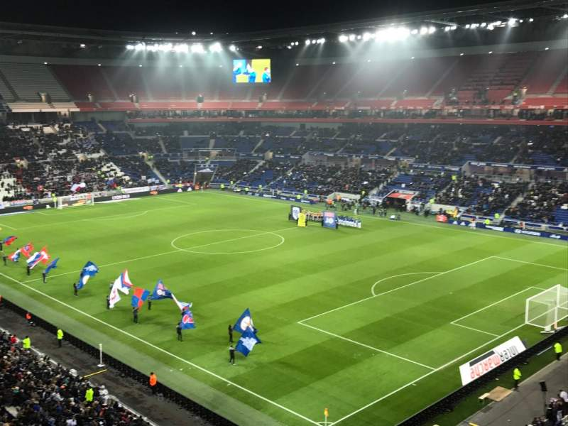 Seating view for Parc Olympique Lyonnais Section 401 Row 2 Seat 1