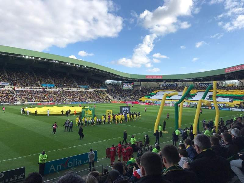 Seating view for Stade de la Beaujoire Section Presidentielle Row O Seat 205