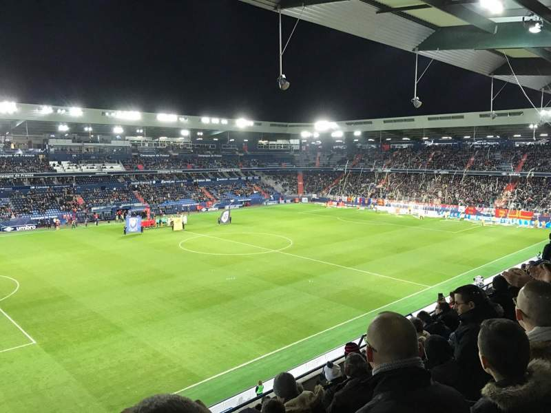 Seating view for Stade Michel D'Ornano Section J9 Row X Seat 220