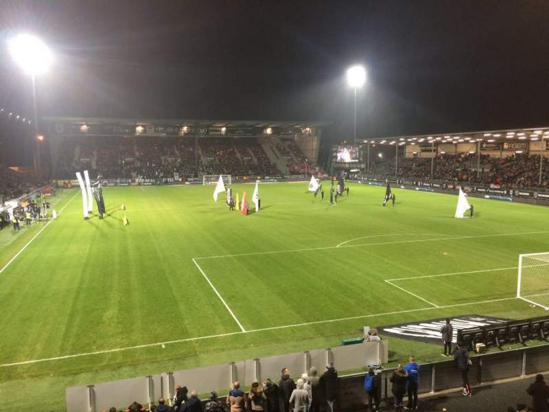 Seating view for Stade Raymond Kopa Section Colombier Row T Seat 24