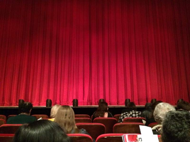 Seating view for Mccarter Theater, Matthews Theater Section Orch Row F Seat 105