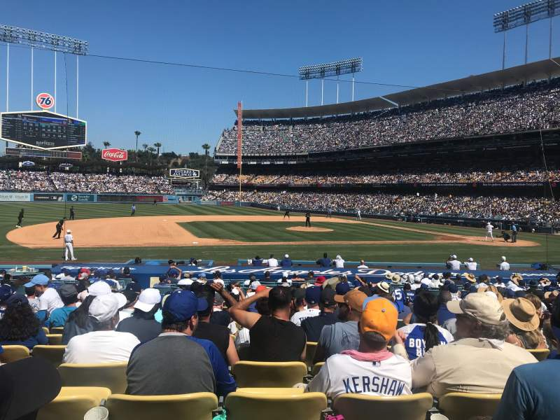 Seating view for Dodger Stadium Section 25FD Row P Seat 3