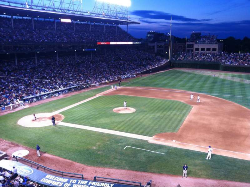 Seating view for Wrigley Field Section 430 Row 1 Seat 6