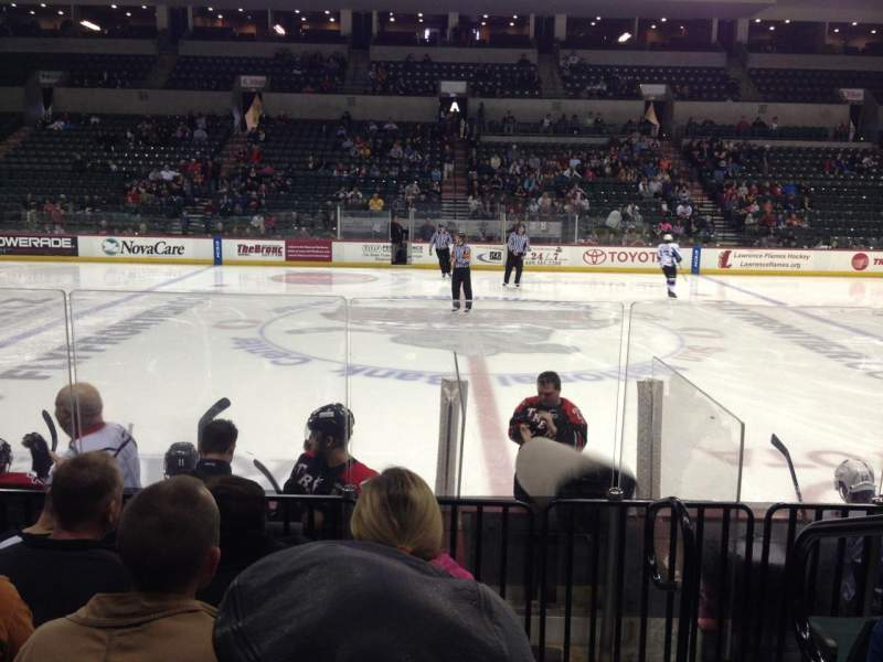 Seating view for Sun National Bank Center Section 116 Row FF Seat 1