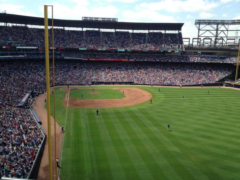 Seating view for Turner Field Section 433L Row 1 Seat 104