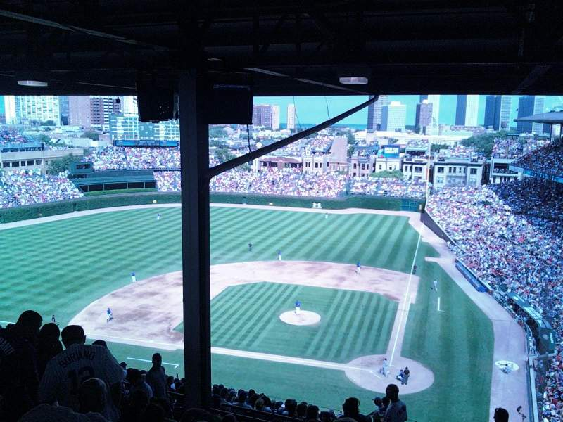 Seating view for Wrigley Field Section 413L Row 9