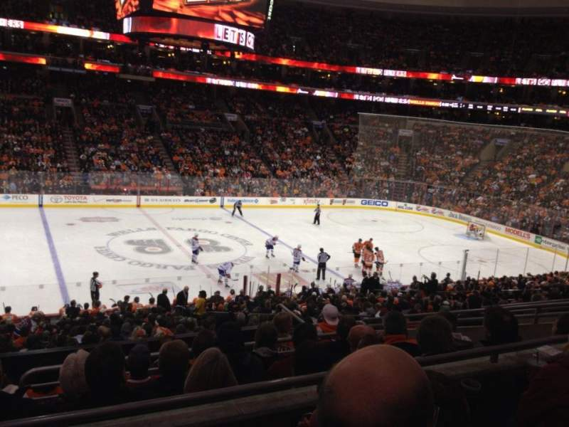 Seating view for Wells Fargo Center Section Club Box 24 Row 3 Seat 9