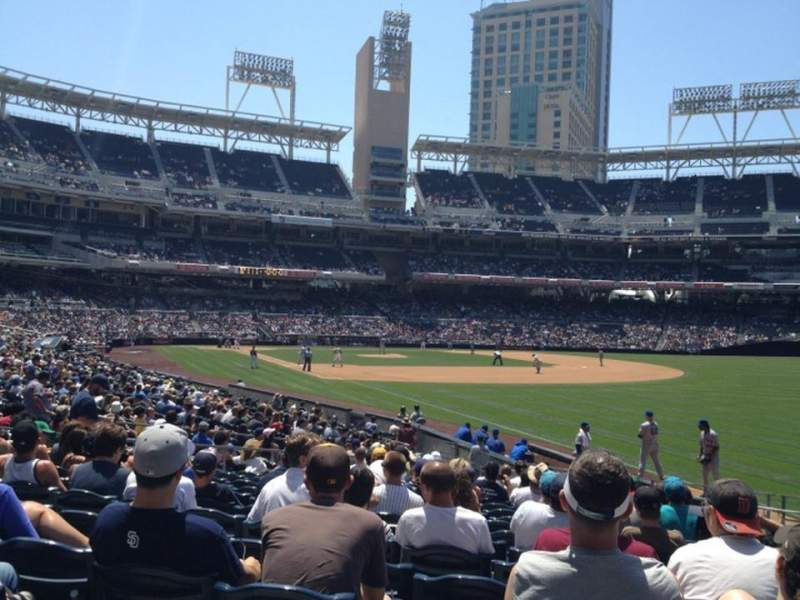 Seating view for PETCO Park Section 121 Row 25 Seat 16