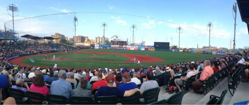 Seating view for MCU Park Section 10 Row U Seat 13