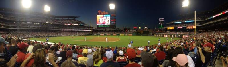 Seating view for Citizens Bank Park Section 115 Row 13 Seat 5