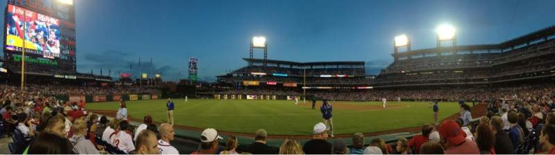 Seating view for Citizens Bank Park Section 135 Row 4 Seat 9