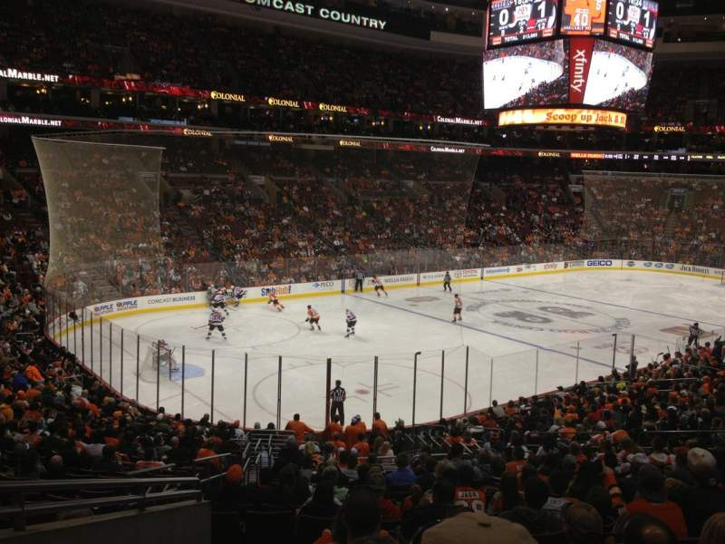 Seating view for Wells Fargo Center Section Club Box 22 Row 2 Seat 3
