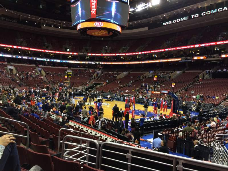Seating view for Wells Fargo Center Section 104 Row 11 Seat 11