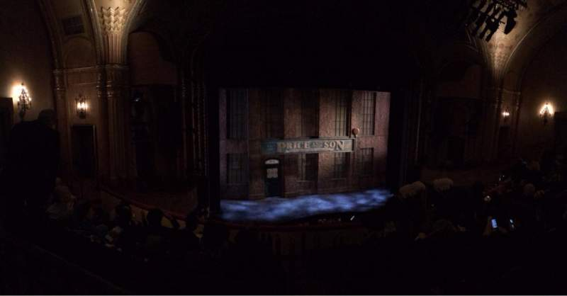 Seating view for Al Hirschfeld Theatre Section Mezz R Row G Seat 1