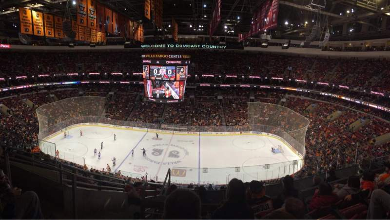 Seating view for Wells Fargo Center Section 202 Row 9 Seat 5