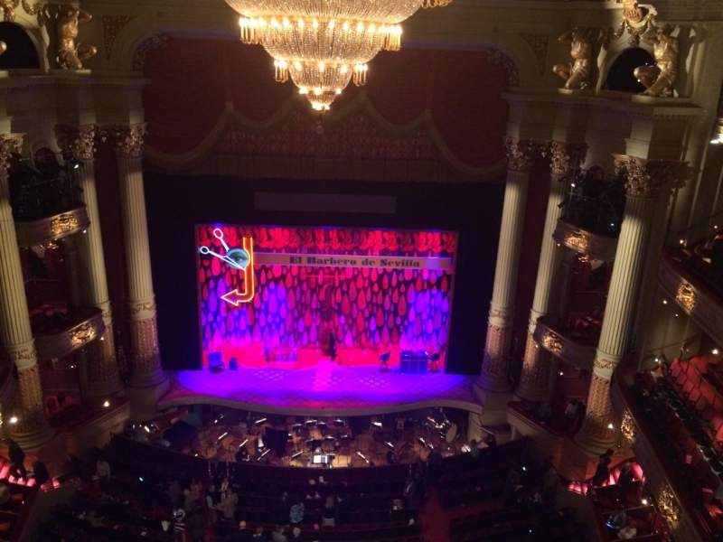 Seating view for Academy Of Music Section Amphitheater E Row A Seat 107