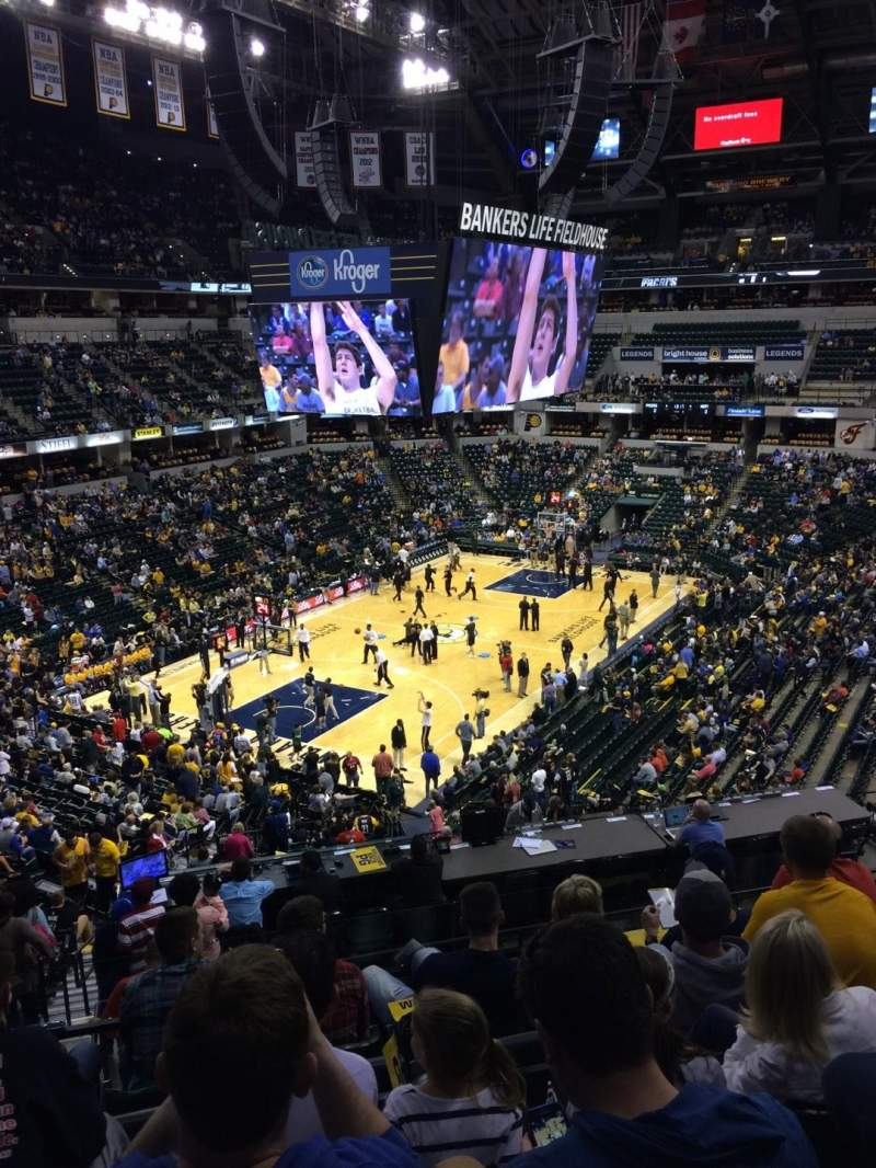 Seating view for Bankers Life Fieldhouse Section 19 Row 35 Seat 14