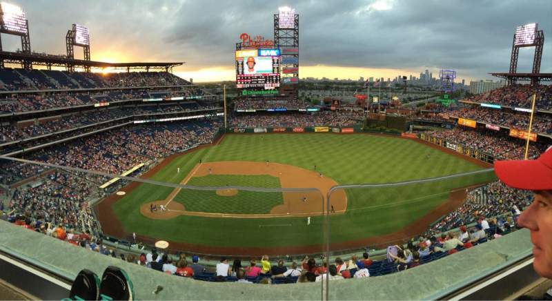 Seating view for Citizens Bank Park Section 415 Row 1 Seat 16