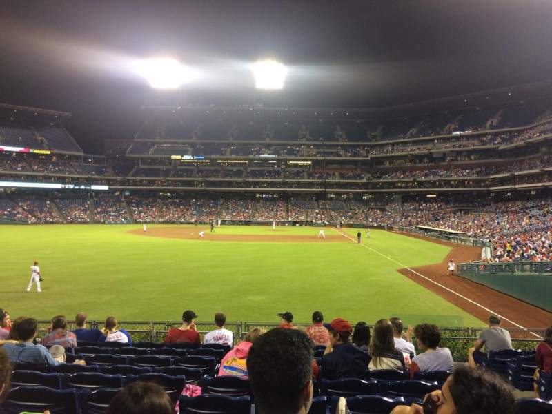 Seating view for Citizens Bank Park Section 142 Row 10 Seat 4