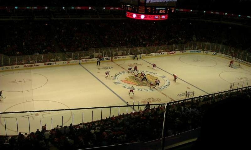Seating view for United Center Section 303 Row 2 Seat 18