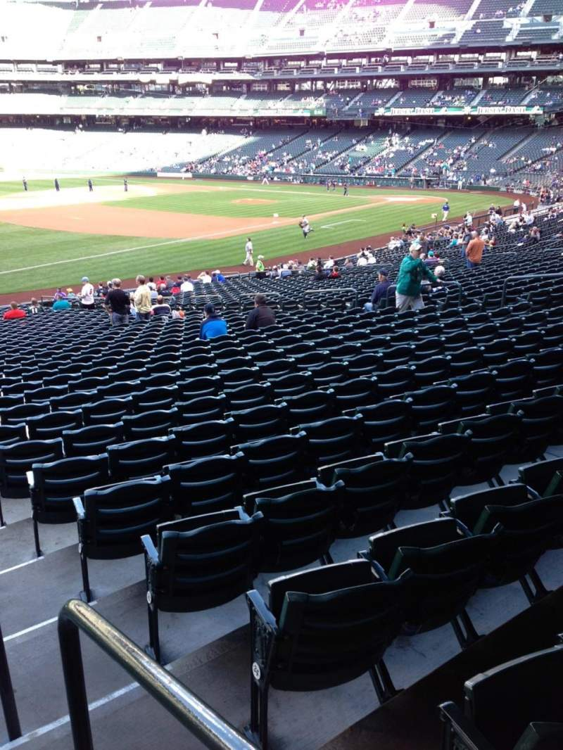 Seating view for SafeCo Field Section 144 Row 35 Seat 34