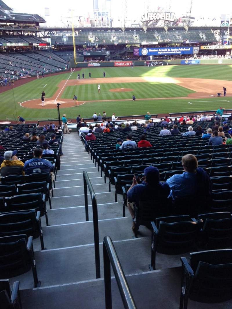 Seating view for SafeCo Field Section 123 Row 35 Seat 34