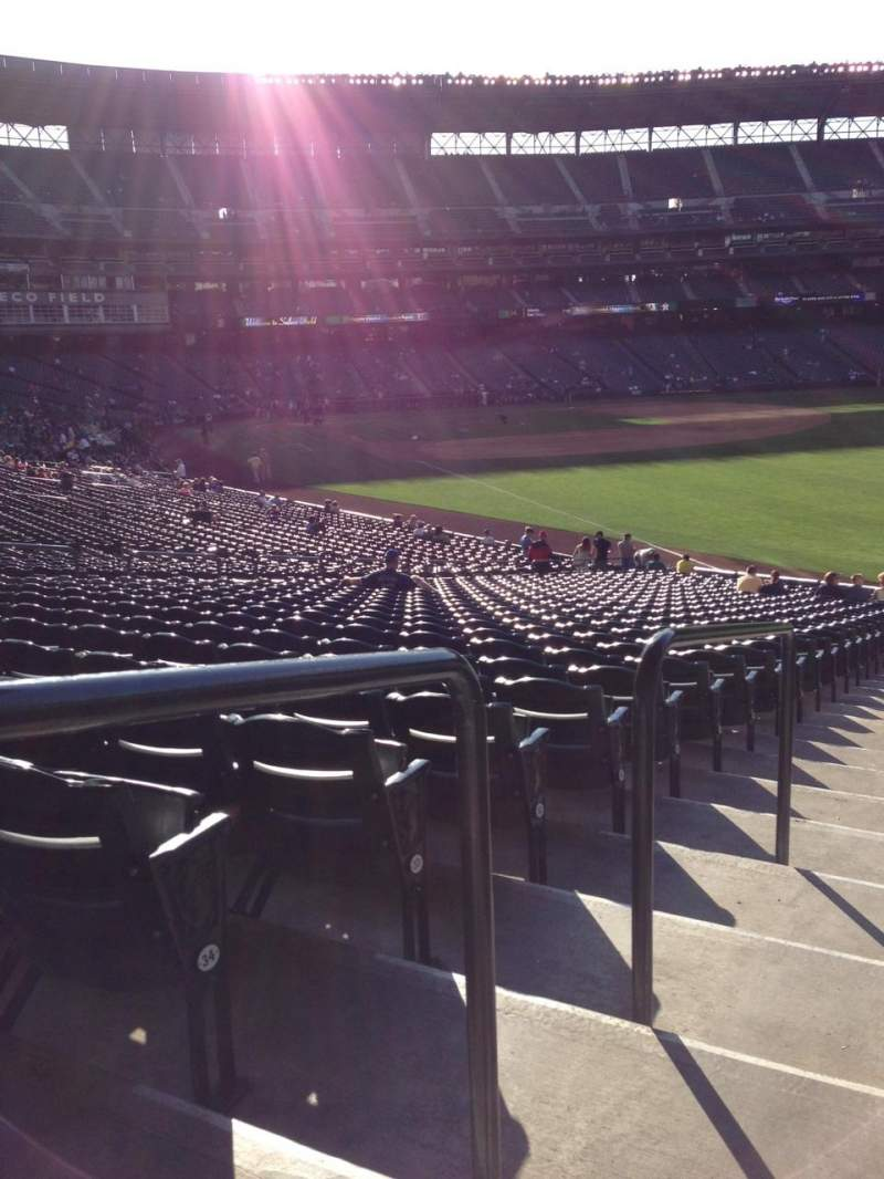 Seating view for SafeCo Field Section 111 Row 35 Seat 34
