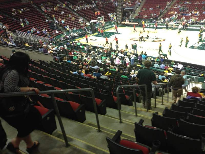 Seating view for KeyArena Section 103 Row 22 Seat 21