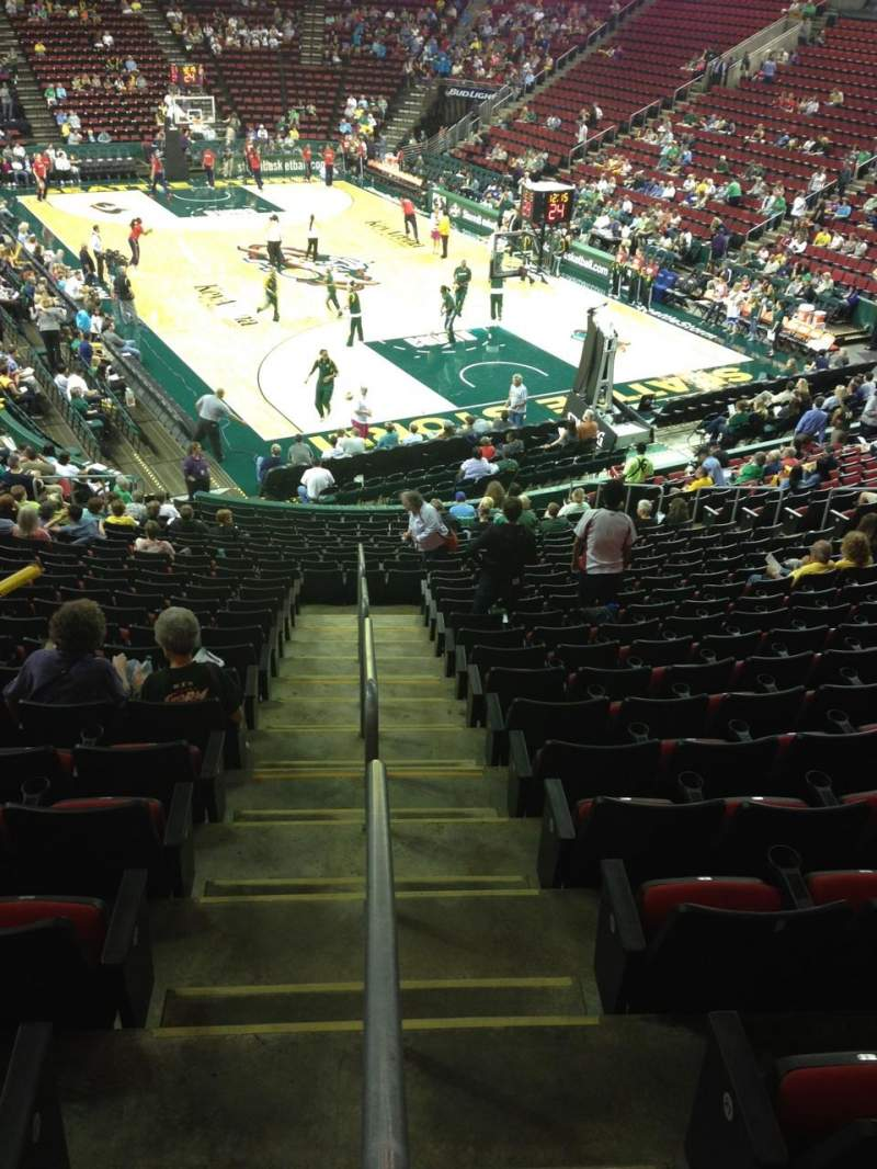 Seating view for KeyArena Section 106 Row 22 Seat 21