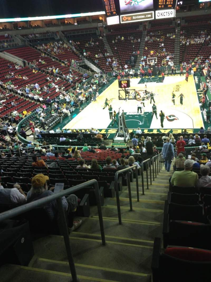 Seating view for KeyArena Section 108 Row 22 Seat 21