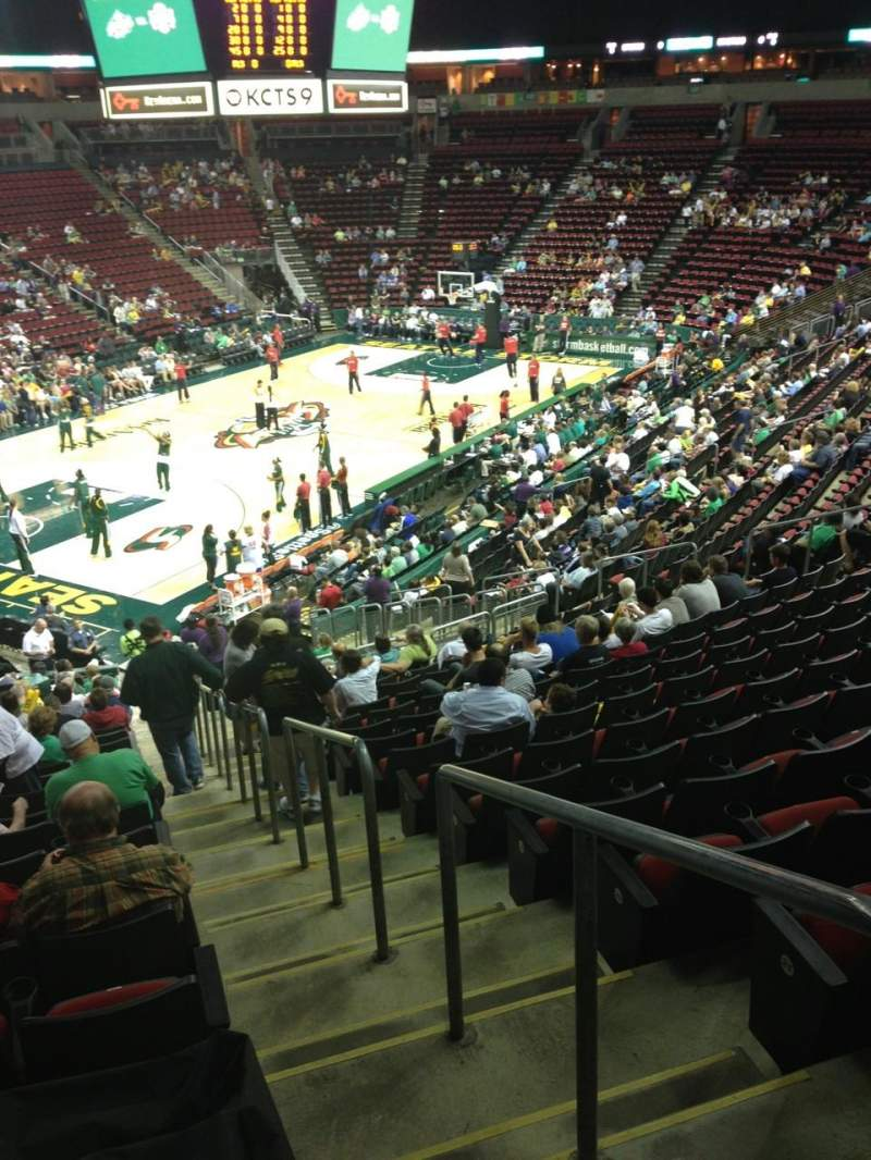 Seating view for KeyArena Section 111 Row 22 Seat 21