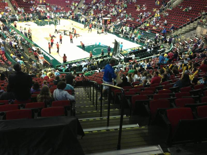 Seating view for KeyArena Section 120 Row 22 Seat 21